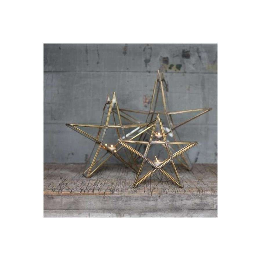 Nkuku Sanwi Brass Standing Star At Accessories For The Home