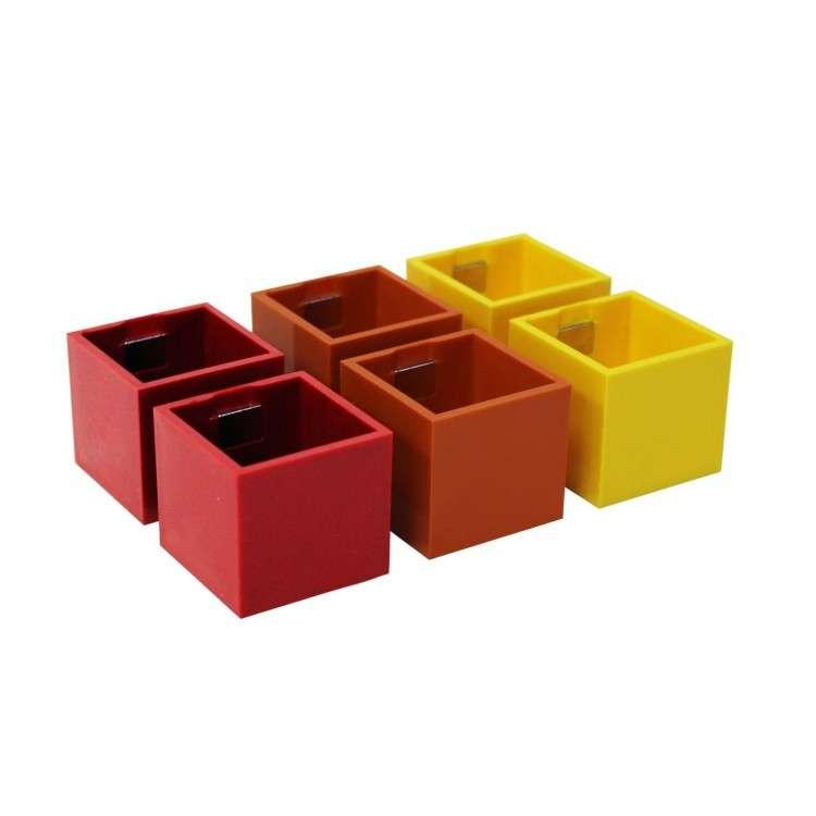 Kalamitica Pots - Set of 6 Grey Tones