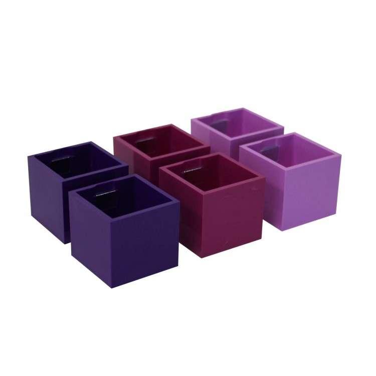 Kalamitica Pots - Set of 6 Violet Tones