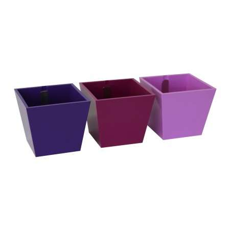 Kalamitica - Set of 3 Pyramids Violet