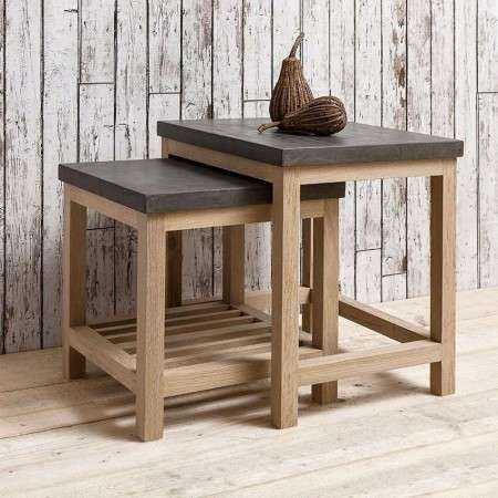 Brooklyn Contemporary Nest of 2 Tables from Accessories for the Home