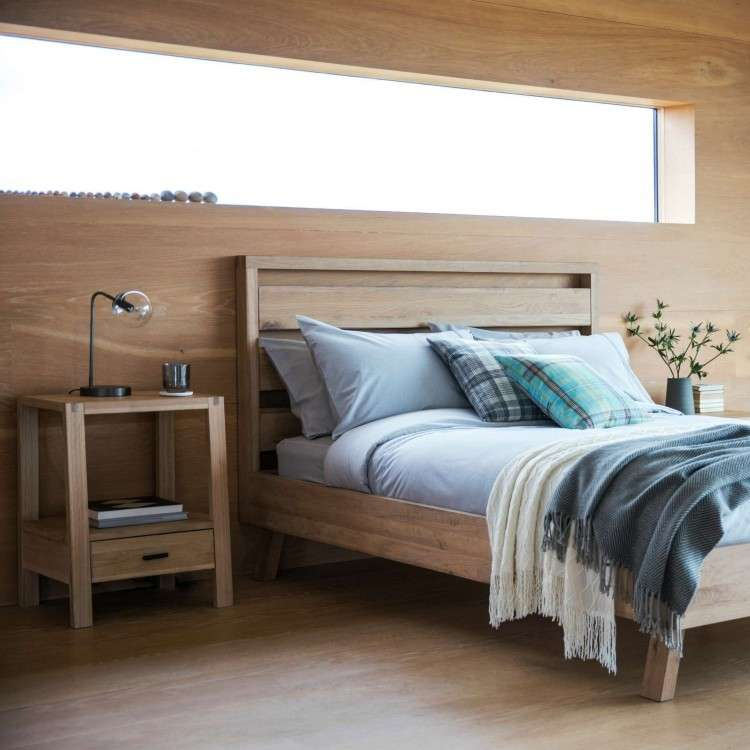 Aurland Oak Bed from Accessories for the Home