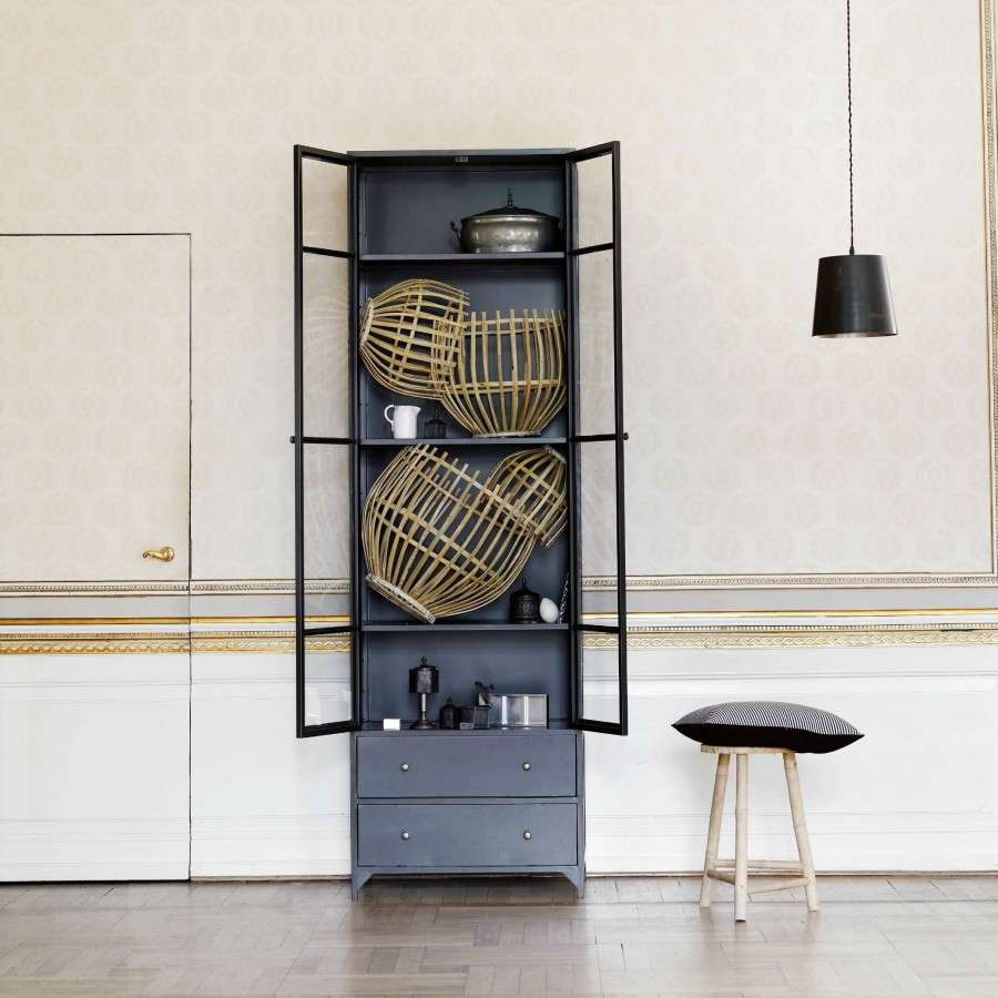 Metal Black Kitchen Cabinets: Tall Black Metal Display Cabinet From Accessories For The Home