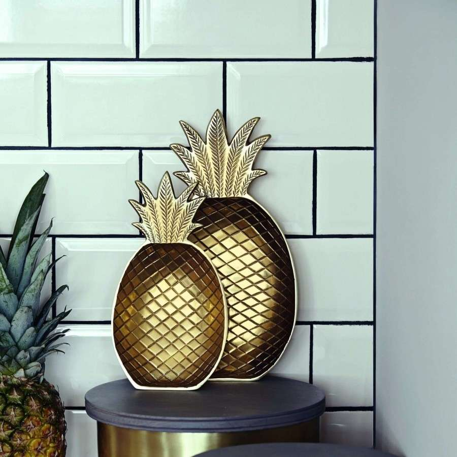Gold Pineapple Dish From Accessories For The Home