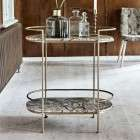 Antique Gold & Marble Side Table from Accessories for the Home