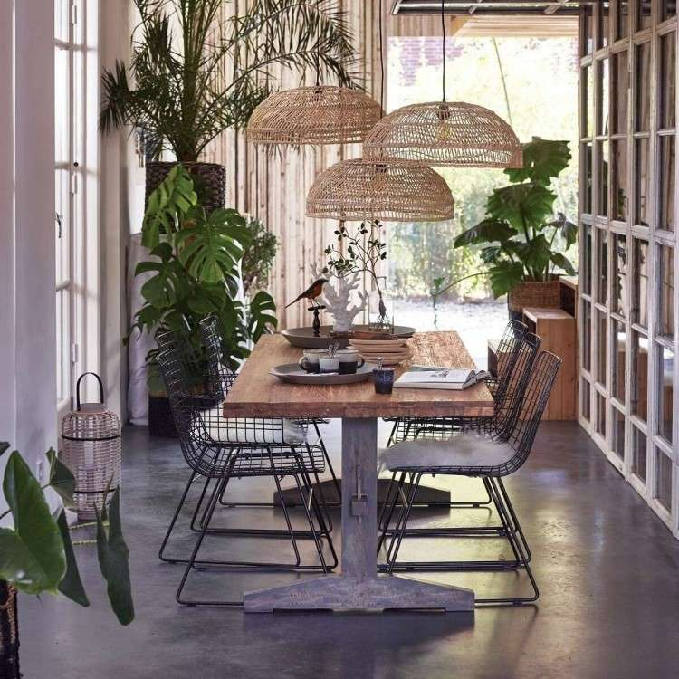Natural/Grey Teak Dining Table from Accessories for the Home