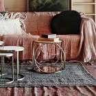 Circular Brass & Marble Side Table from Accessories for the Home