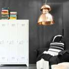Wood 3 Door White Locker from Accessories for the Home