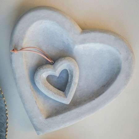 Concrete Heart Dish from Accessories for the Home