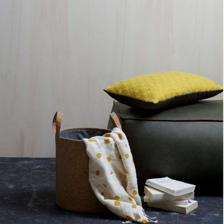 Rodeo Leather Pouf from Accessories for the Home