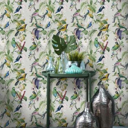 Tropical Birds Wallpaper from Accessories for the Home