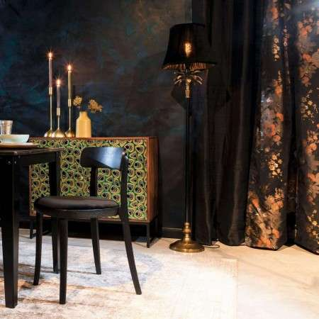 Dutchbone Cresta Gold & Black Floor Lamp from Accessories for the Home