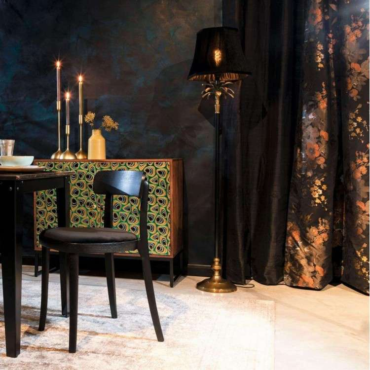 Dutchbone Cresta Gold and Black Floor Lamp from Accessories for the Home