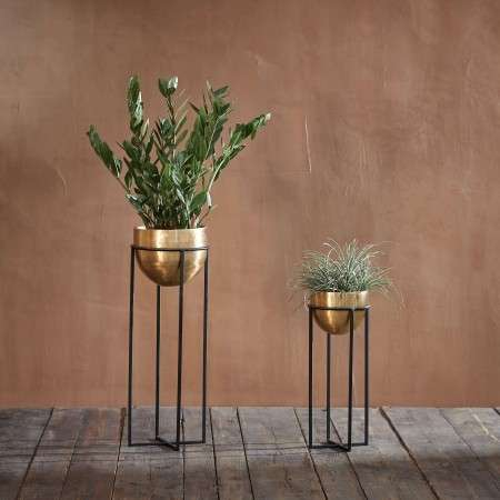 Atsu Brass Metal Planter Stand
