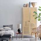 Bloomingville Mariana Pine And Rattan Wardrobe from Accessories for the Home