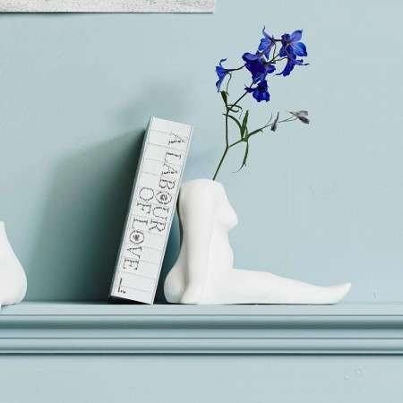 Nordal AVAJI Full Body Sitting Ceramic Vase from Accessories for the Home