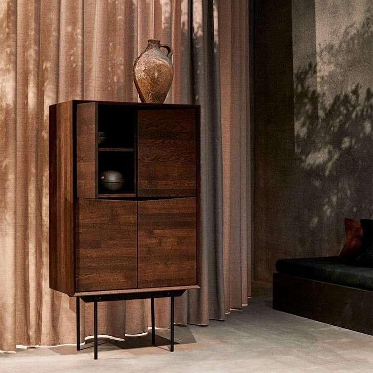 Muubs Wing Smoked Oak Highboard from Accessories for the Home