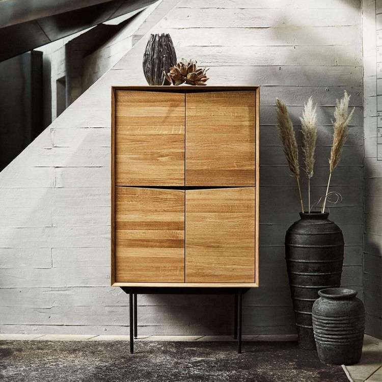 Muubs Wing Natural Oak Highboard from Accessories for the Home