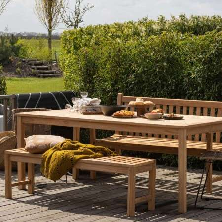 Jisse Natural Teak Garden Bench (145/180cm) from Accessories for the Home