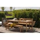 Jisse Natural Teak Garden Bench from Accessories for the Home