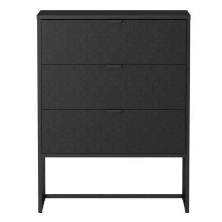 Milo Wood and Metal 3 Drawer Cabinet from Accessories for the Home