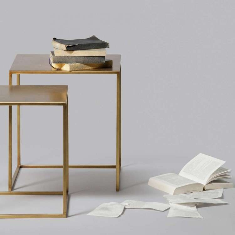 Ziva Set of 2 Metal Side Tables from Accessories for the Home