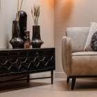 BePureHome Bequest Black Wood Media Cabinet from Accessories for the Home