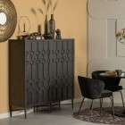 BePureHome Bequest Black Wood High Cabinet from Accessories for the Home