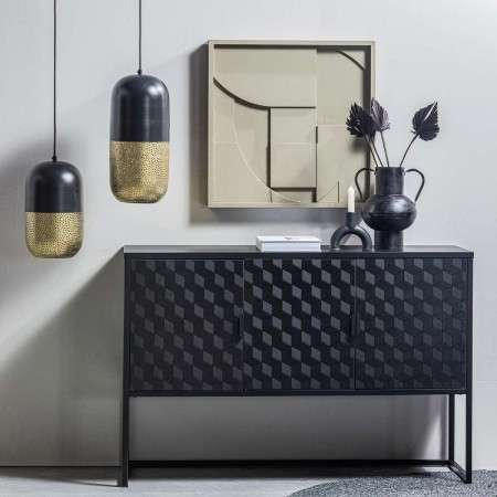 Milo Wood and Metal Media Cabinet from Accessories for the Home