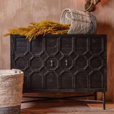 Bequest Black Wood Sideboard