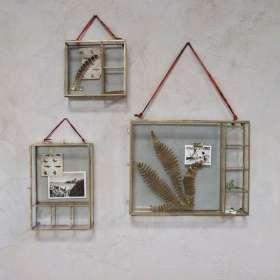 Kiko Brass Hanging Photo/Trinket Box
