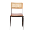 Iswa Leather and Rattan Dining Chair from Accessories for the Home