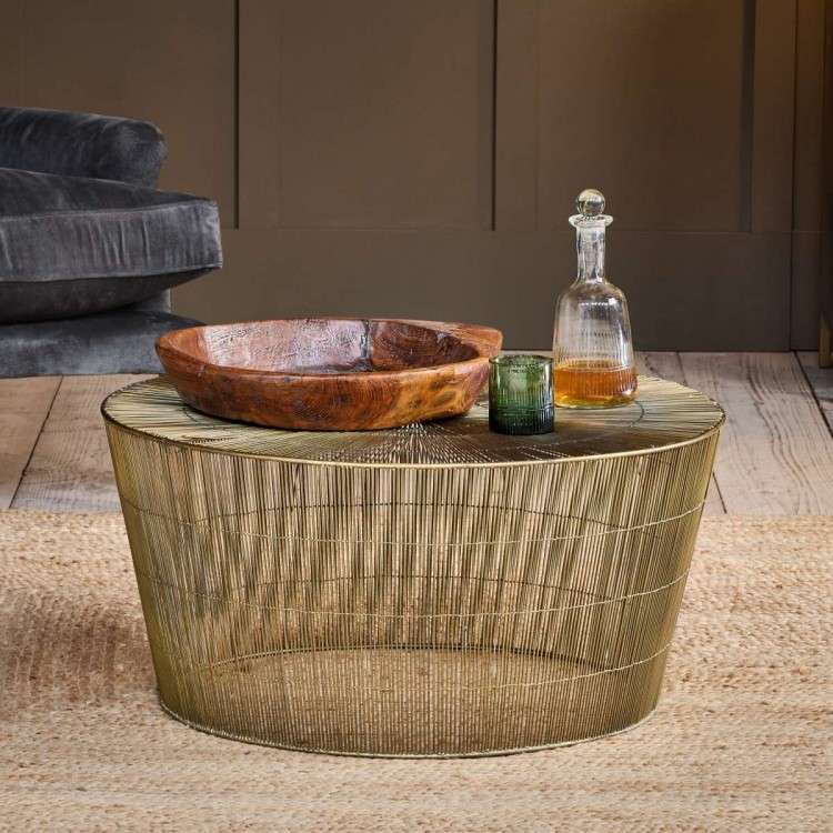 Mahua Iron Coffee Table Brass from Accessories for the Home