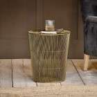 Mahua Iron Side Table Brass from Accessories for the Home