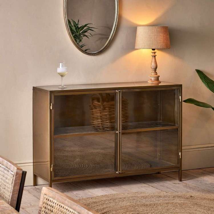 Ranchi Iron Sideboard in Antique Brass from Accessories for the Home