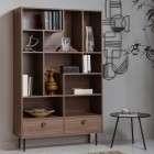 Prato Walnut Finish Bookcase from Accessories for the Home