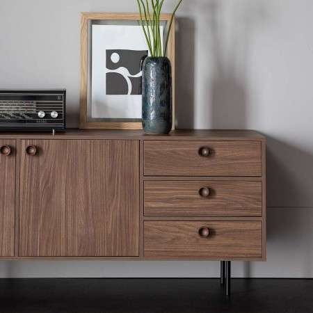 Prato Walnut Finish Sideboard from Accessories for the Home