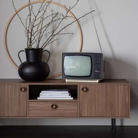 Prato Walnut Finish Media Cabinet from Accessories for the Home