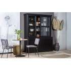 Lagos Black Pine Wood Display Cabinet from Accessories for the Home