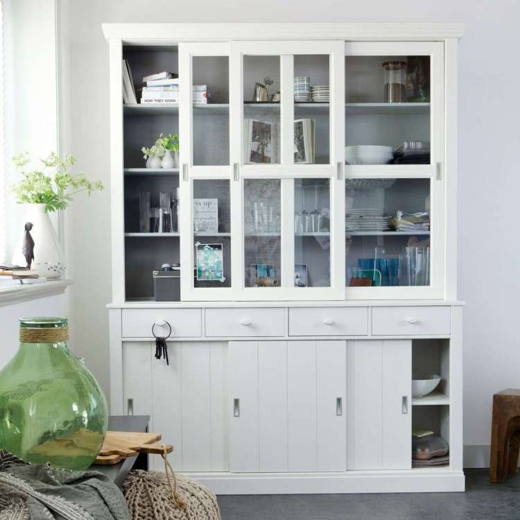 Lagos White Pine Wood Display Cabinet from Accessories for the Home