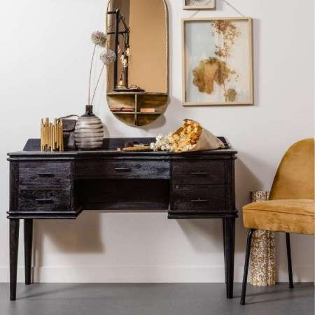 Boudoir Black Wood Dressing Table from Accessories for the Home