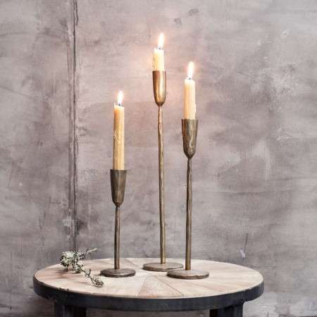 Mbata Antique Brass Candlesticks from Accessories for the Home