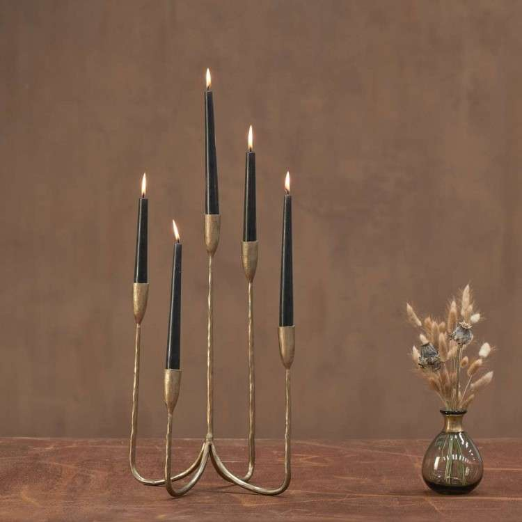 Mbata Antique Brass Cluster Candelabra from Accessories for the Home