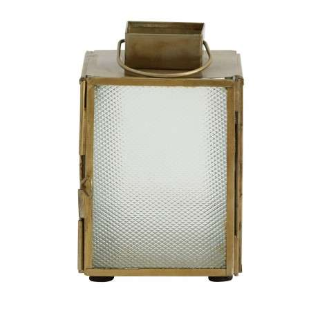 Brass Lantern With Frosted Glass