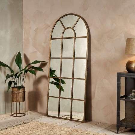 Imoma Brass Floor Standing Mirror