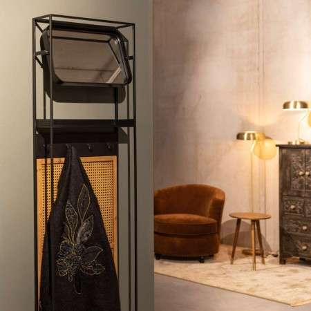 Dutchbone Langres Rattan Mirror With Hooks from Accessories for the Home