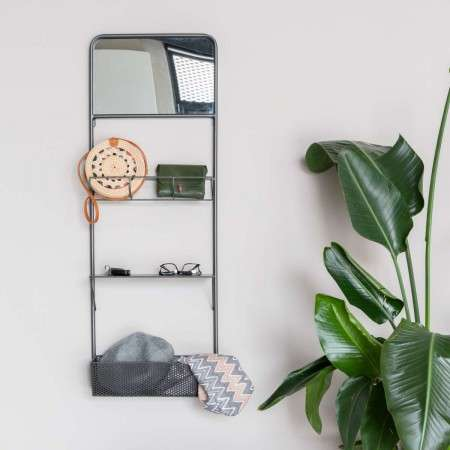 Djay Wall Rack With Mirror from Accessories for the Home