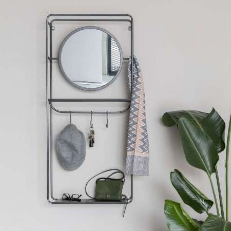 Duco Wall Rack With Mirror from Accessories for the Home