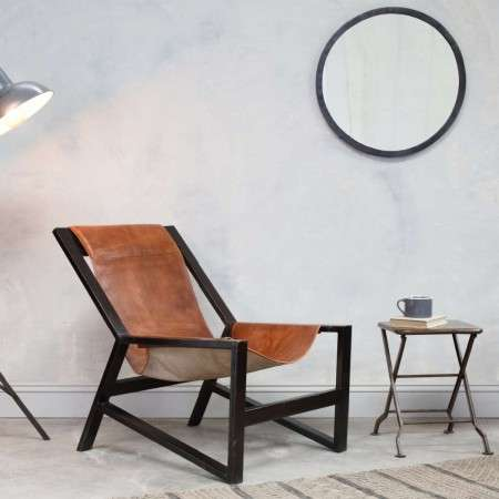 Narwana Leather Lounger from Accessories for the Home