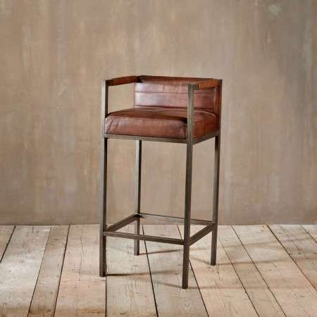 Wamma Leather Bar Chair from Accessories for the Home